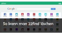 22find Virus entfernen: So geht's im Firefox, IE und bei Google Chrome