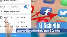 9 Schritte: Instagram-Bilder auf Facebook, Twitter und Co. teilen!