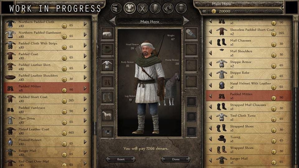 Bannerlord: Vorläufiges Handels-Interface mit Charakteransicht