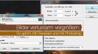 Bilder verlustarm vergrößern: So geht's mit Freeware und mit Photoshop