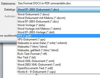 pdf auf word umwandeln