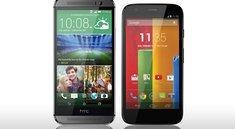 HTC One mini 2 vs. Moto G (Datenvergleich)
