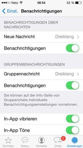 Whatsapp Benachrichtigungston Ausschalten
