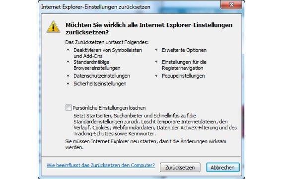 Den Internet Explorer zurücksetzen - so geht's