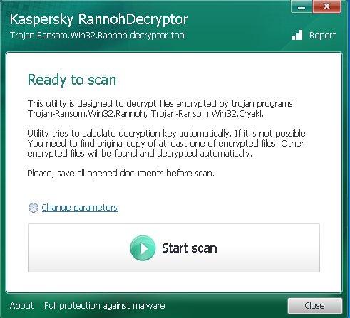 Kaspersky-Rannoh-Decryptor