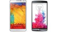 LG G3 vs. Samsung Galaxy Note 3: Technische Daten im Vergleich