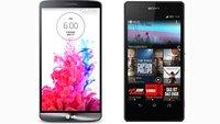 LG G3 vs. Sony Xperia Z2: Die Daten im Vergleich