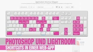 Photoshop und Lightroom Shortcuts in einer Web-App