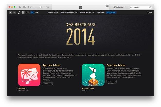 """Top-Apps 2014: """"iTunes Das Beste"""" für iPhone und iPad"""