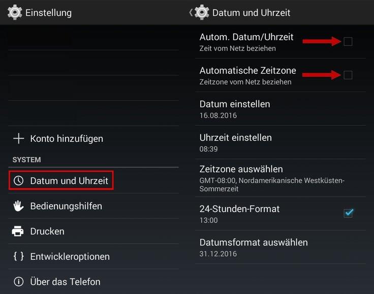WhatsApp Telefondatum nicht korrekt Datum und Uhrzeit