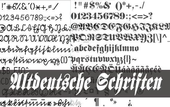 altdeutsche schrift für word