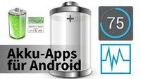 Drei Android-Akku-Apps mit Widgets