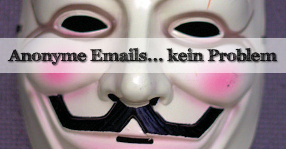 Anonyme email accounts