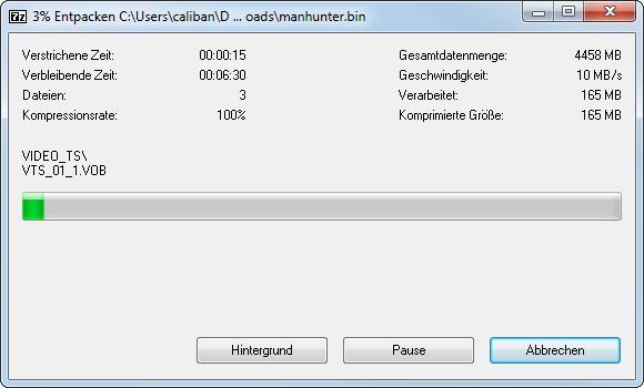 Bin Datei Entpacken