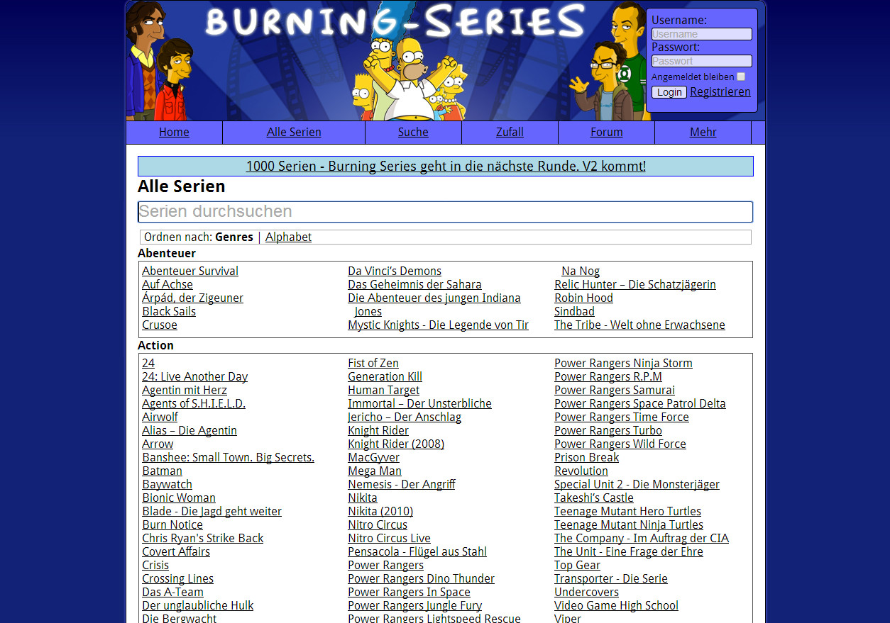 Burning Series Andere Serien