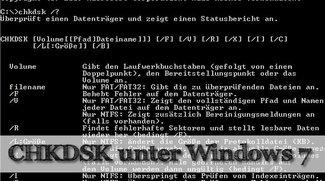 Wie nutze ich chkdsk in Windows 7?