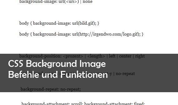 CSS Background Image: Befehle, Positionen und mehr