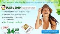 DeutschlandSIM Mai-Deal: Allnet-, SMS- und Internet-Flat für 14,95 € - monatlich kündbar