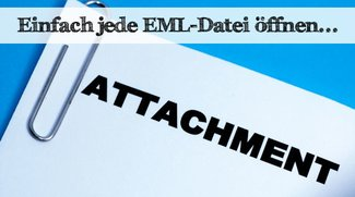 So öffnet und speichert man eine EML-Datei