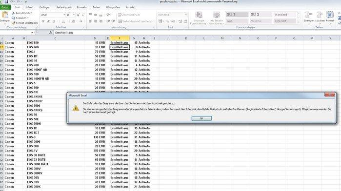 Nur mit einem Passwort können wir den Excel Blattschutz aufheben - eigentlich...