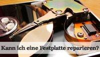Die Festplatte reparieren - was geht und was nicht?