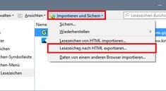 Firefox: Lesezeichen exportieren – so geht's