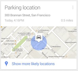google-now-parken-card