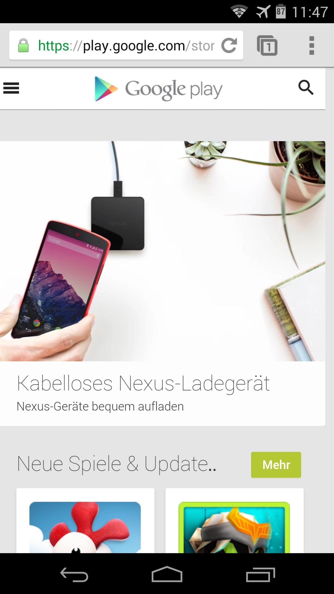 Mobile Ansicht Website