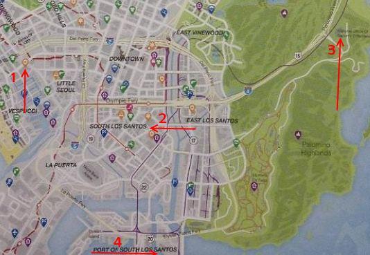 Gta 5 Karte Polizeistation.Gta 5 Hubschrauber Finden Alle Standorte In Los Santos