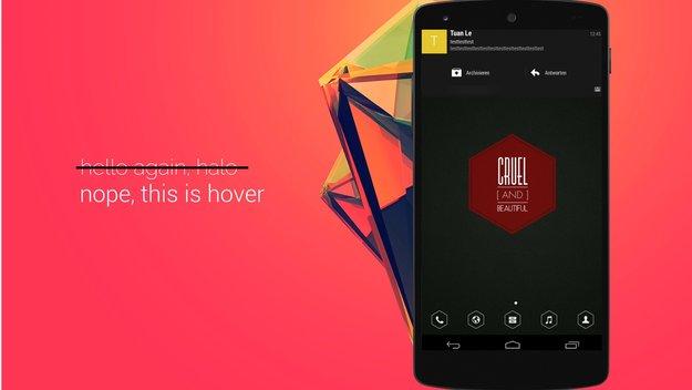 Paranoid Android: Hover-Benachrichtigungssystem ersetzt HALO