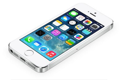 iPhone 5s white iOS 7