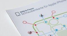 iPhone 4s Reparatur: Schraubenkarte zum Herunterladen