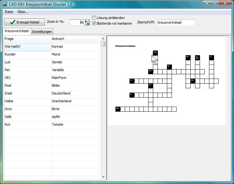 Hier bekommst Du Kreuzworträtsel zum Ausdrucken – GIGA