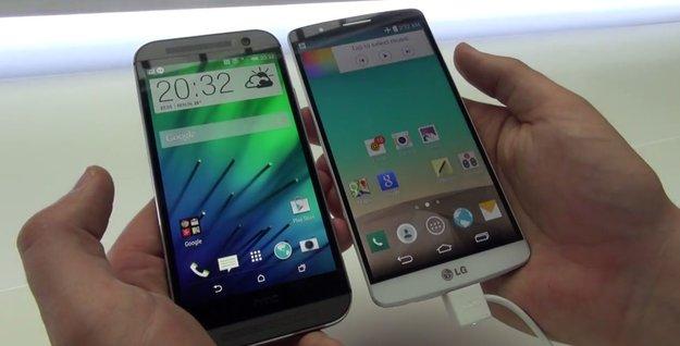 LG G3 vs. HTC One (M8): Die beiden Top-Smartphones im Hands-On-Vergleich