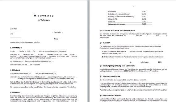 Vorlage Kündigung Mietvertrag