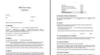 Mietvertrag: Kostenlose Vorlage