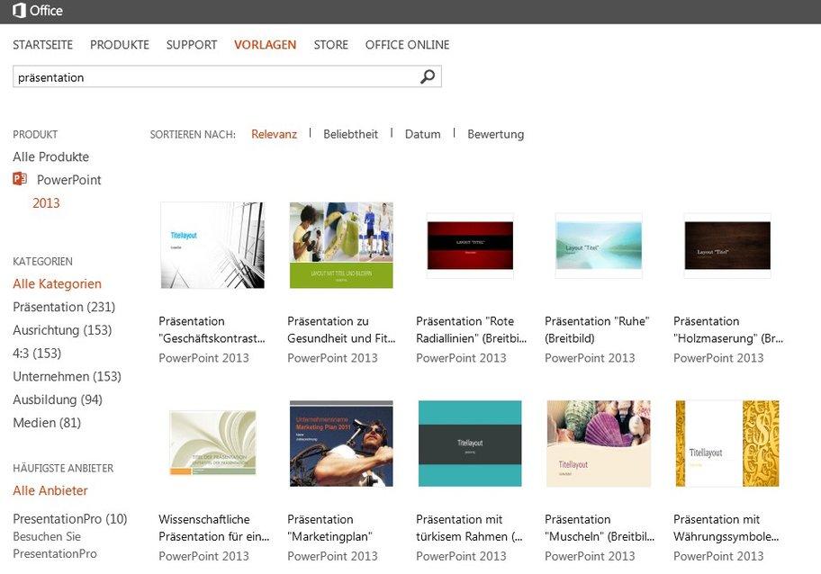 ms powerpoint vorlagen online
