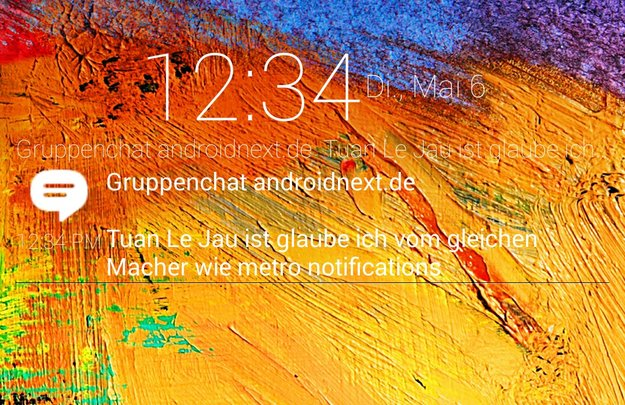 Notify!: Neue App bringt Benachrichtigungen per Widget auf den Lockscreen