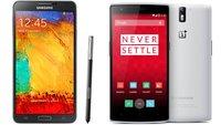 OnePlus One vs. Galaxy Note 3: Technische Daten im Vergleich