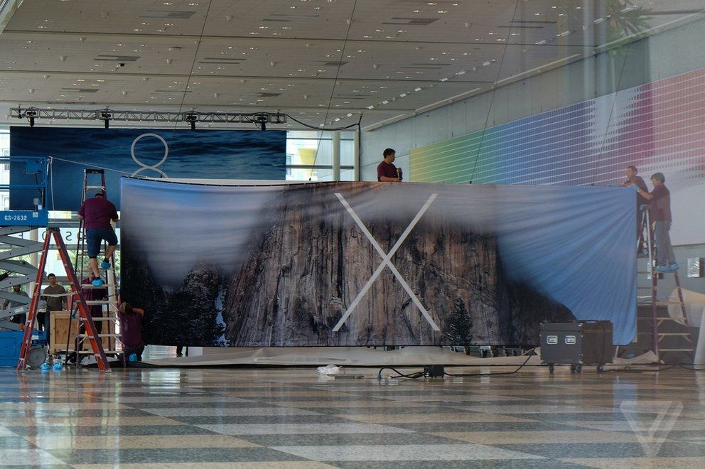 OS X 10.10 Banner im Moscone Center – Foto: TheVerge