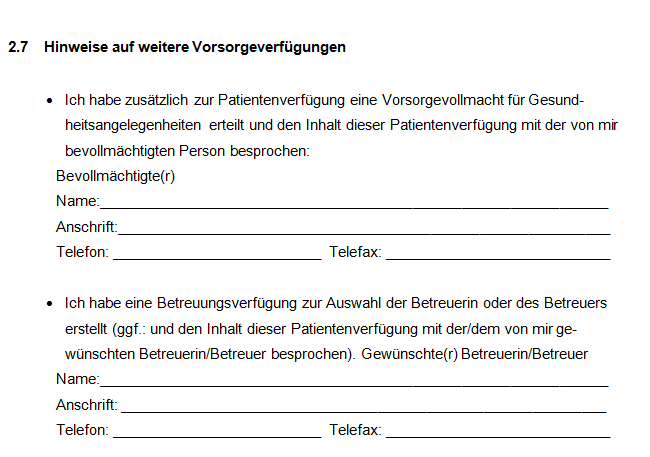Patientenverfügung Formular Download – GIGA