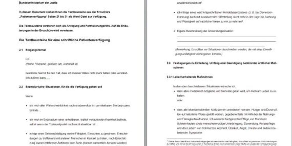 patientenverfgung formular download giga - Patientenverfugung Muster