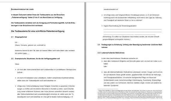 Patientenverfugung Formular Download