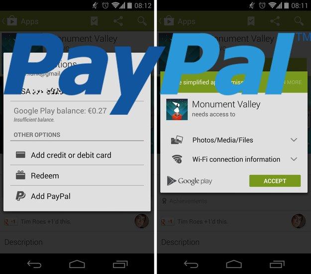 Google Play Store: Update schaltet PayPal-Bezahloption frei, überarbeitet Design [APK-Download]