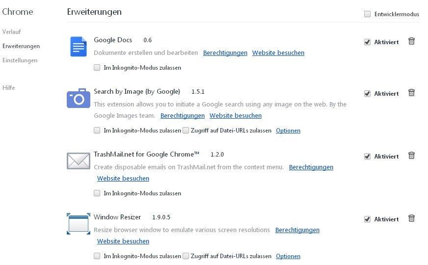 In Google Chrome wird Quickshare unter den Erweiterungen entfernt