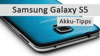 Samsung Galaxy S5: Akku-Tipps für längere Laufzeit