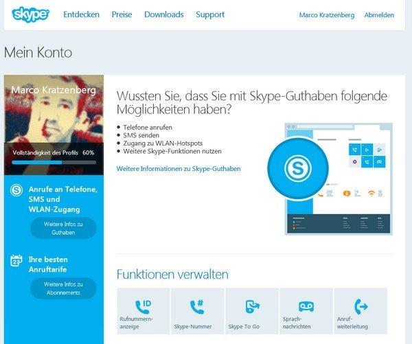 skype online webseite