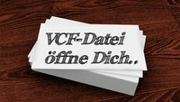 Womit lässt sich eine VCF-Datei öffnen?