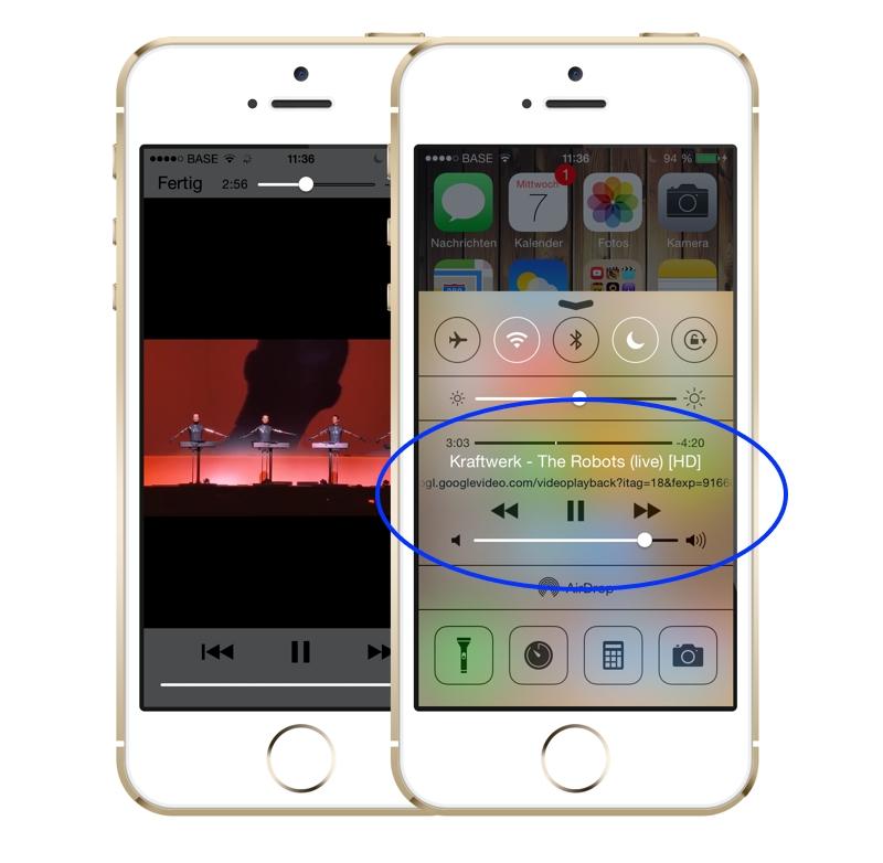 Musik im hintergrund abspielen iphone
