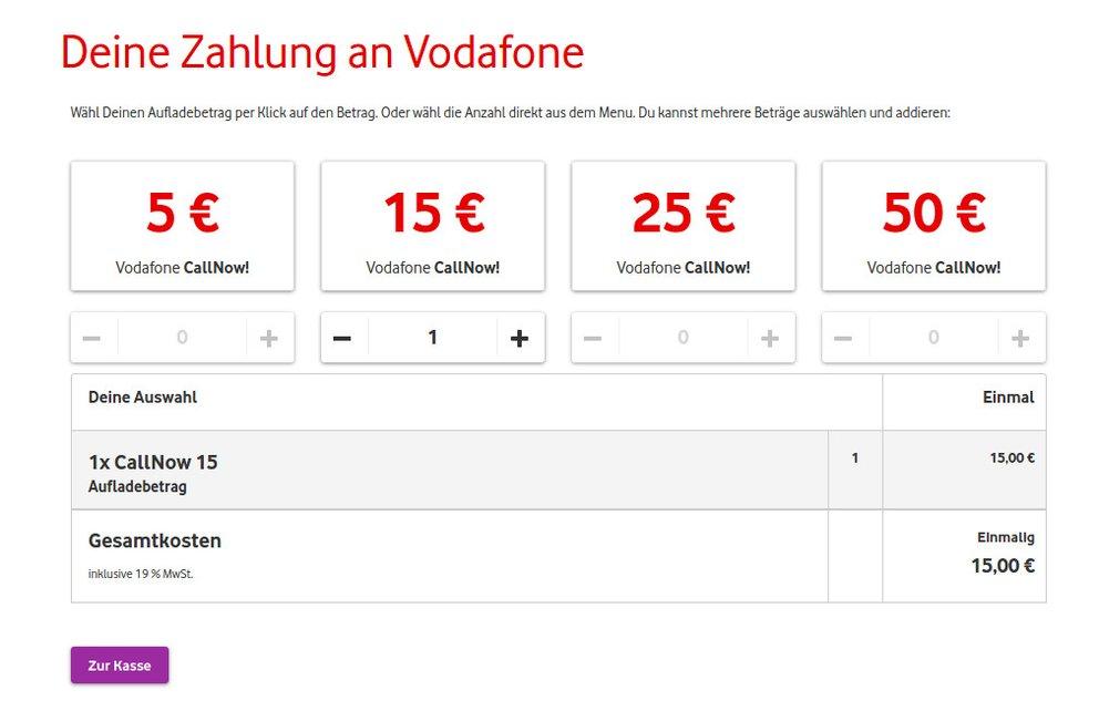 Vodafone: Guthaben abfragen und aufladen - so geht's